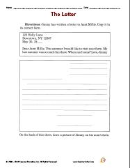 Printables Writing A Friendly Letter Worksheet powerpoints and worksheets writing a friendly letter directions jimmy has written to aunt millie copy it in its correct form